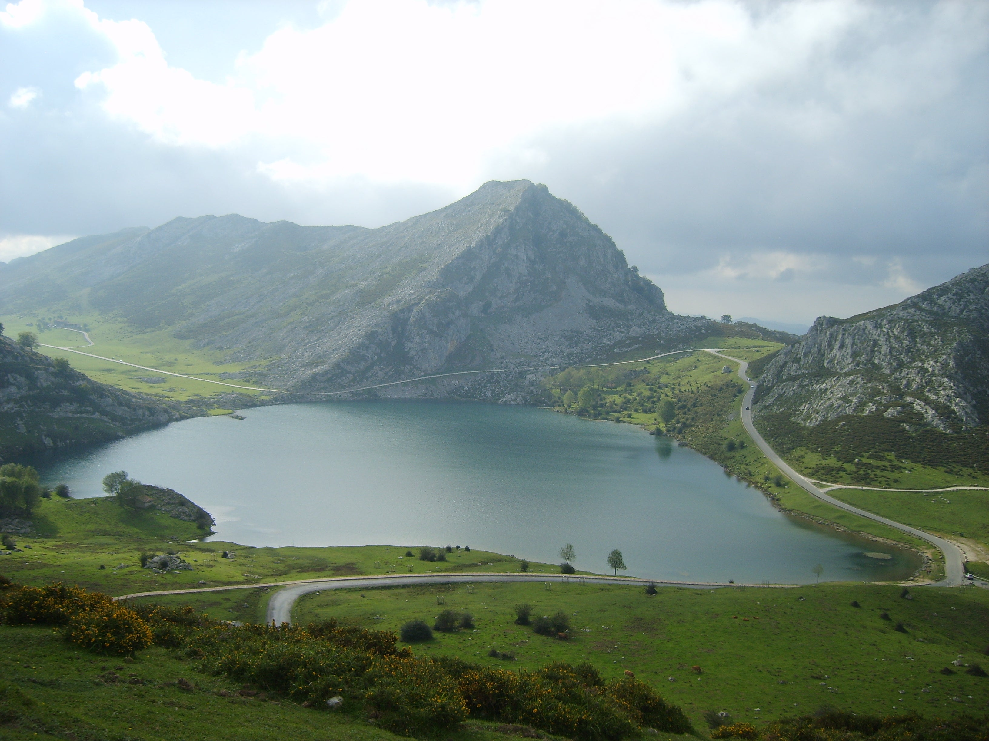 Green in The Lakes of Covadonga - Enol and Ercina lakes