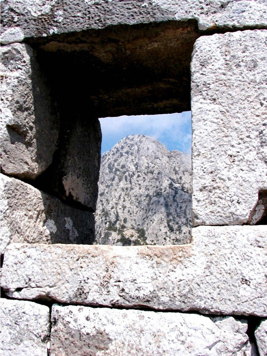 Pared en Termessos