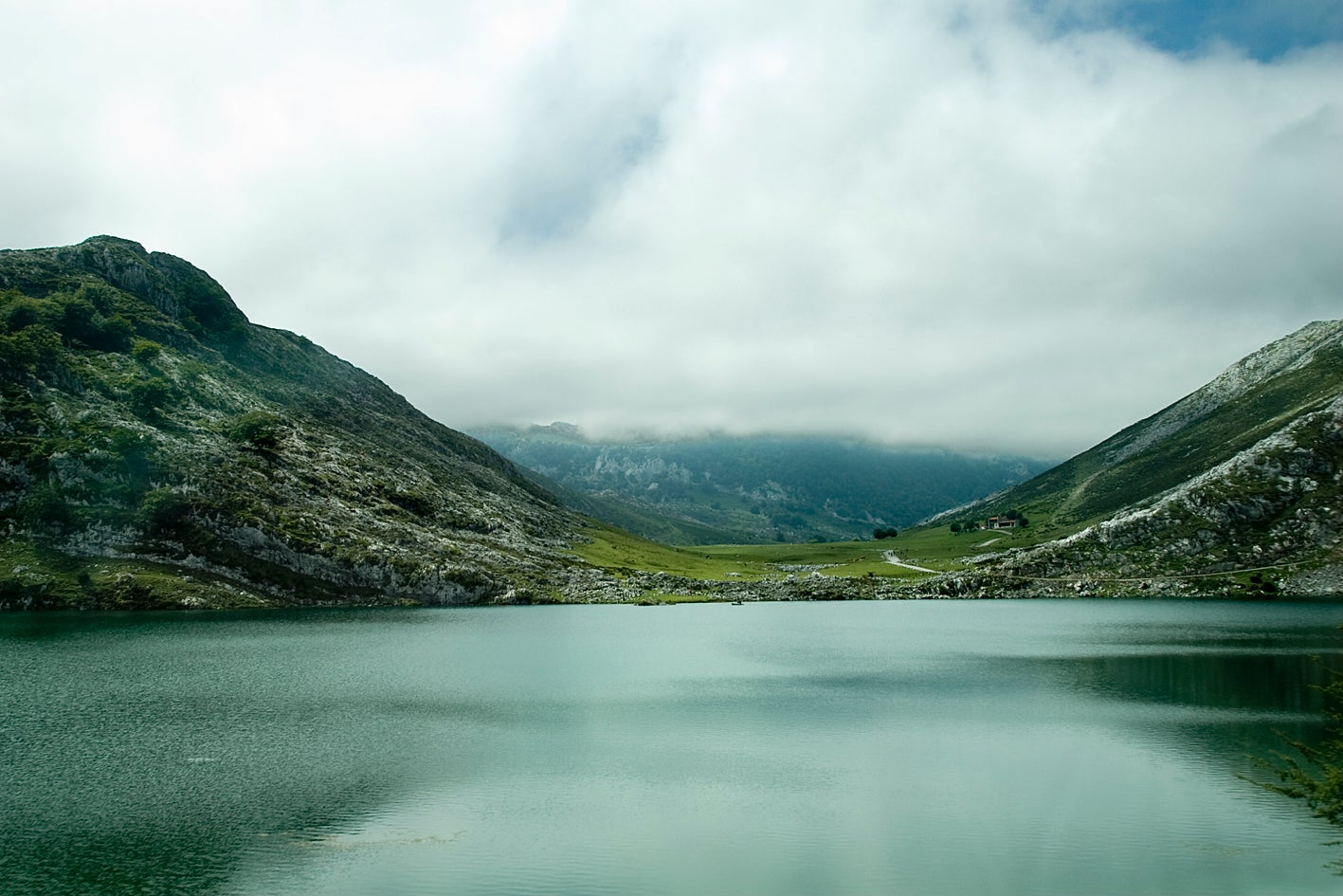 Fjord in The Lakes of Covadonga - Enol and Ercina lakes