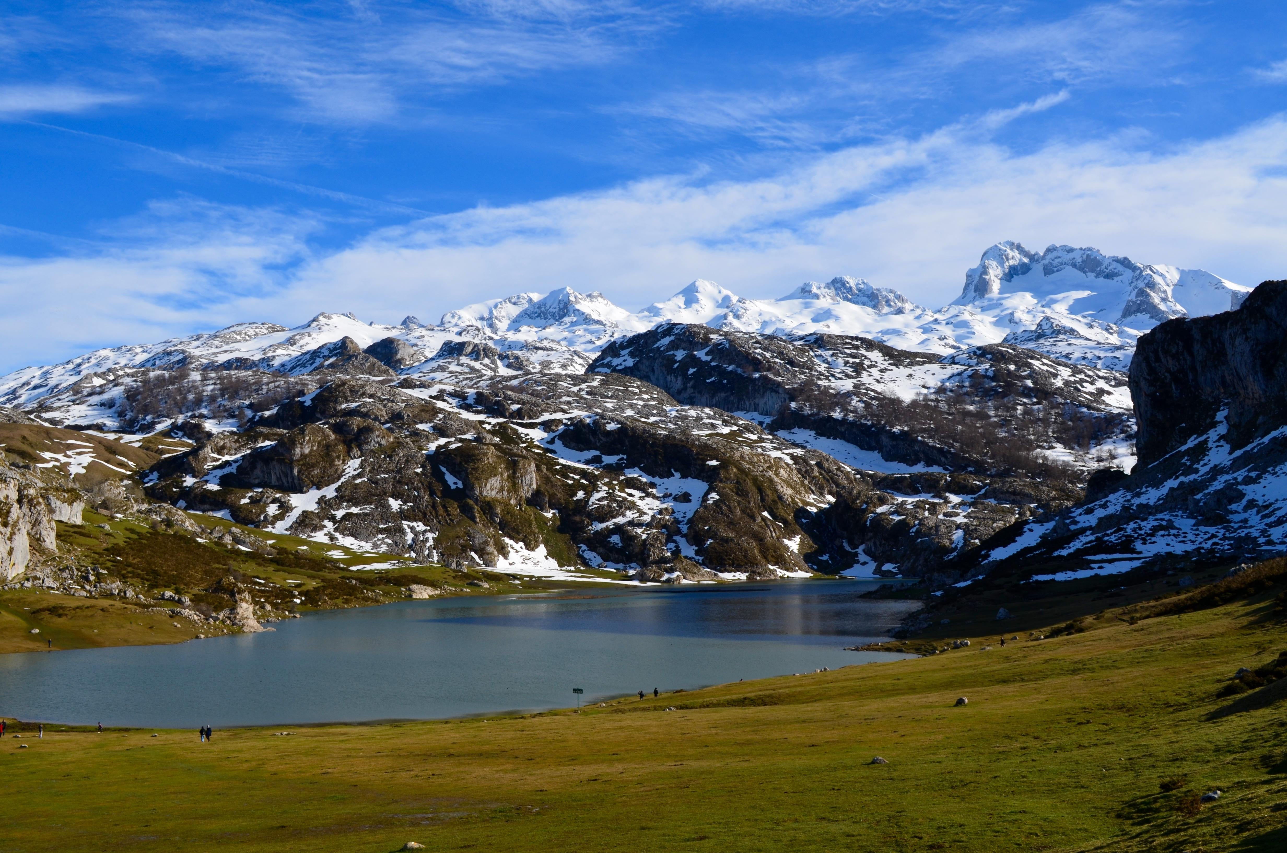 Park in The Lakes of Covadonga - Enol and Ercina lakes