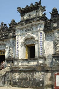 The sarcophagus of Emperor Khai Dinh room