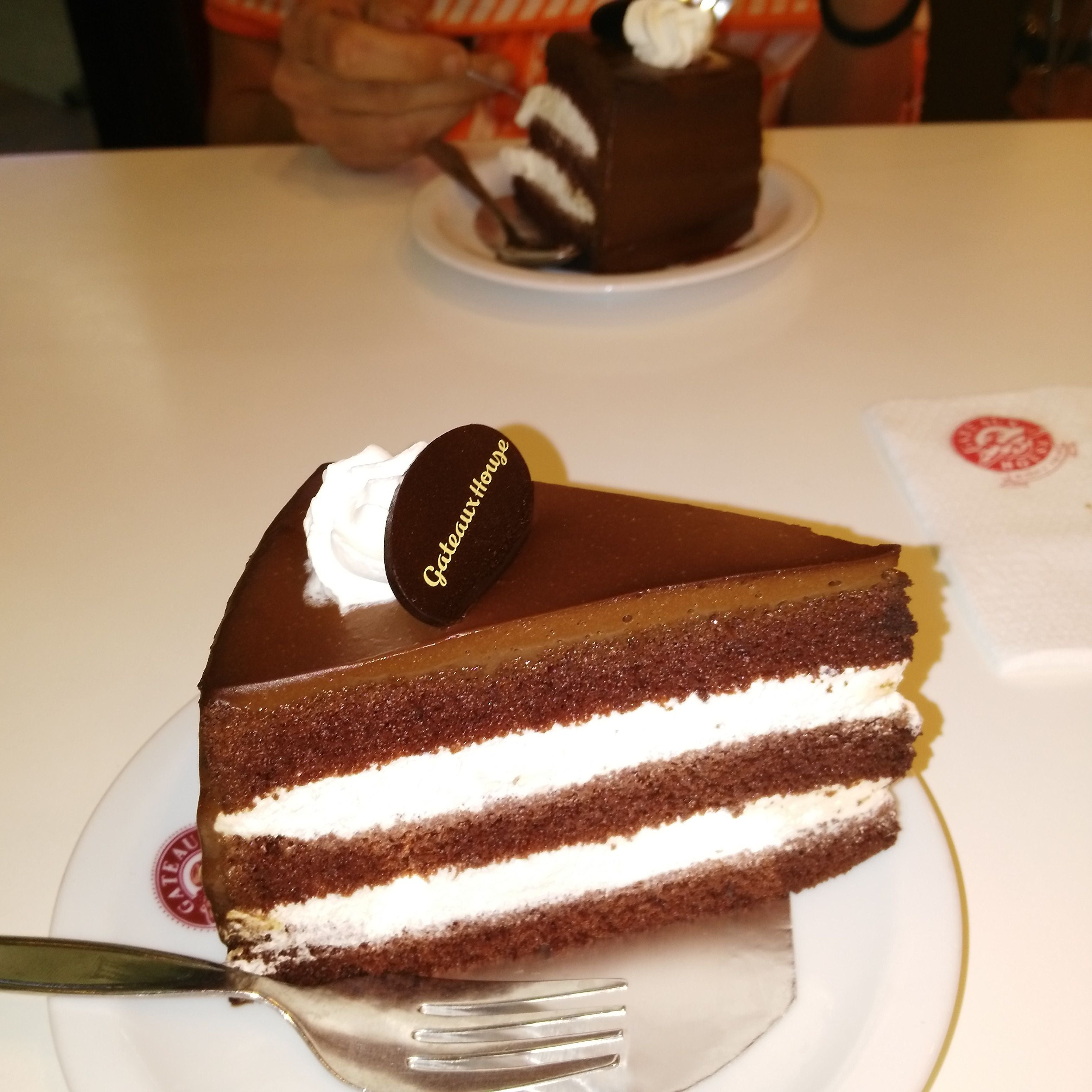 Food in Cafeteria Gateaux House