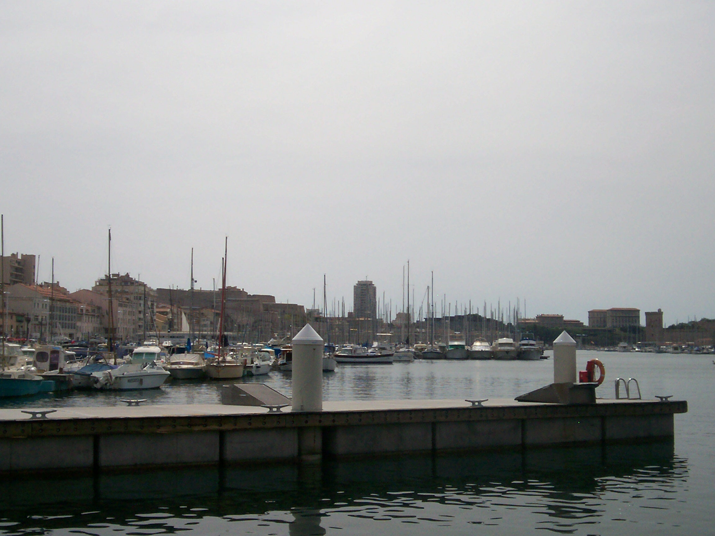 Water in Port of Marseille