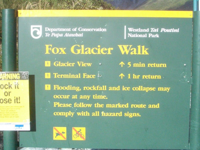 Documento en Glaciar Fox