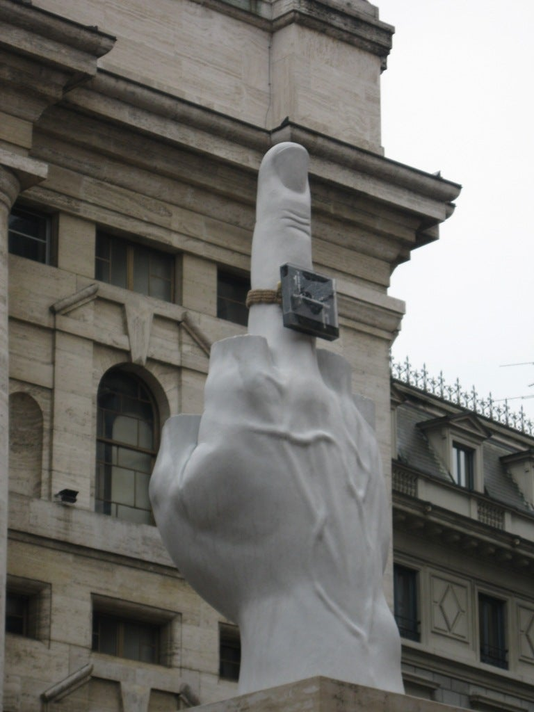 Statue of the Middle Finger