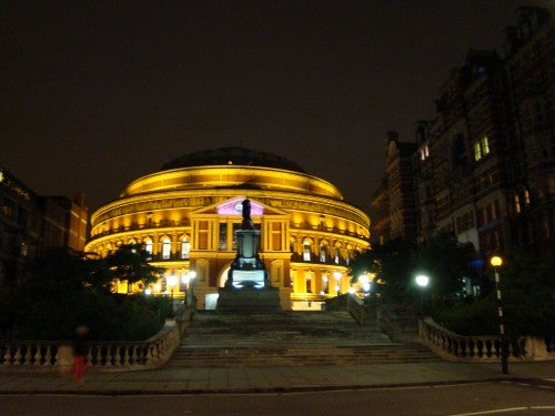 Anochecer en Royal Albert Hall