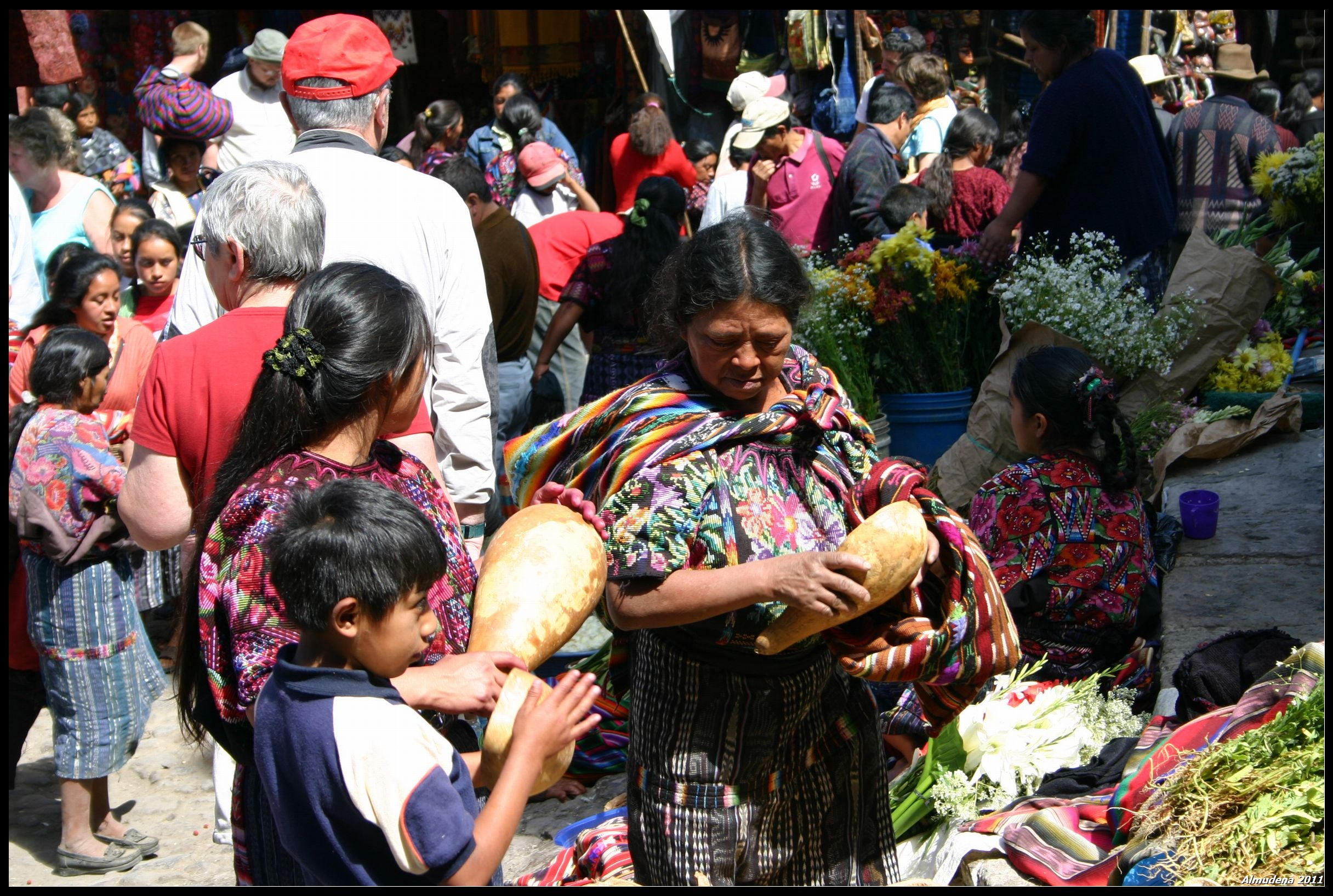 Multitud en Mercado de Chichicastenango