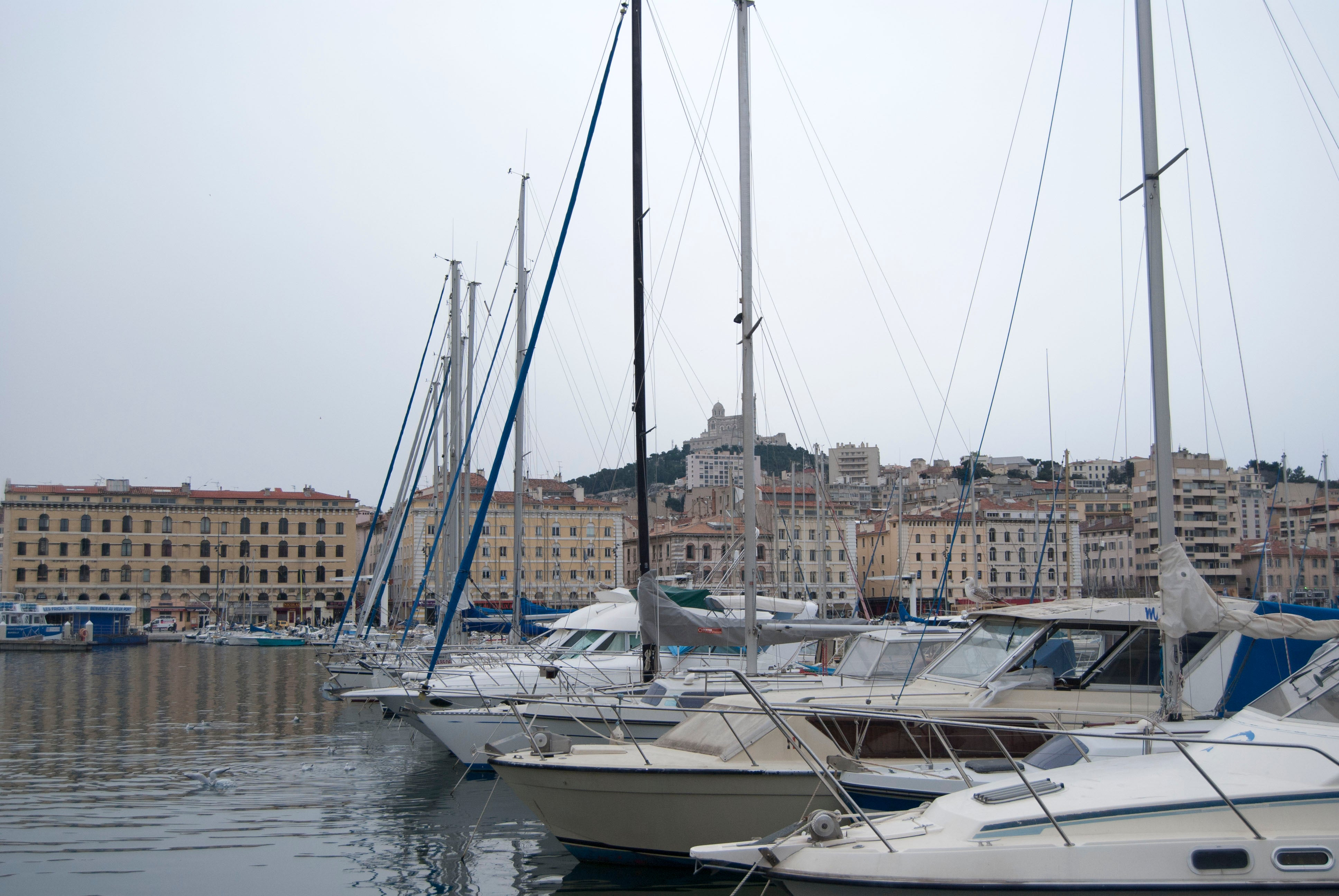 Sailboat in Port of Marseille