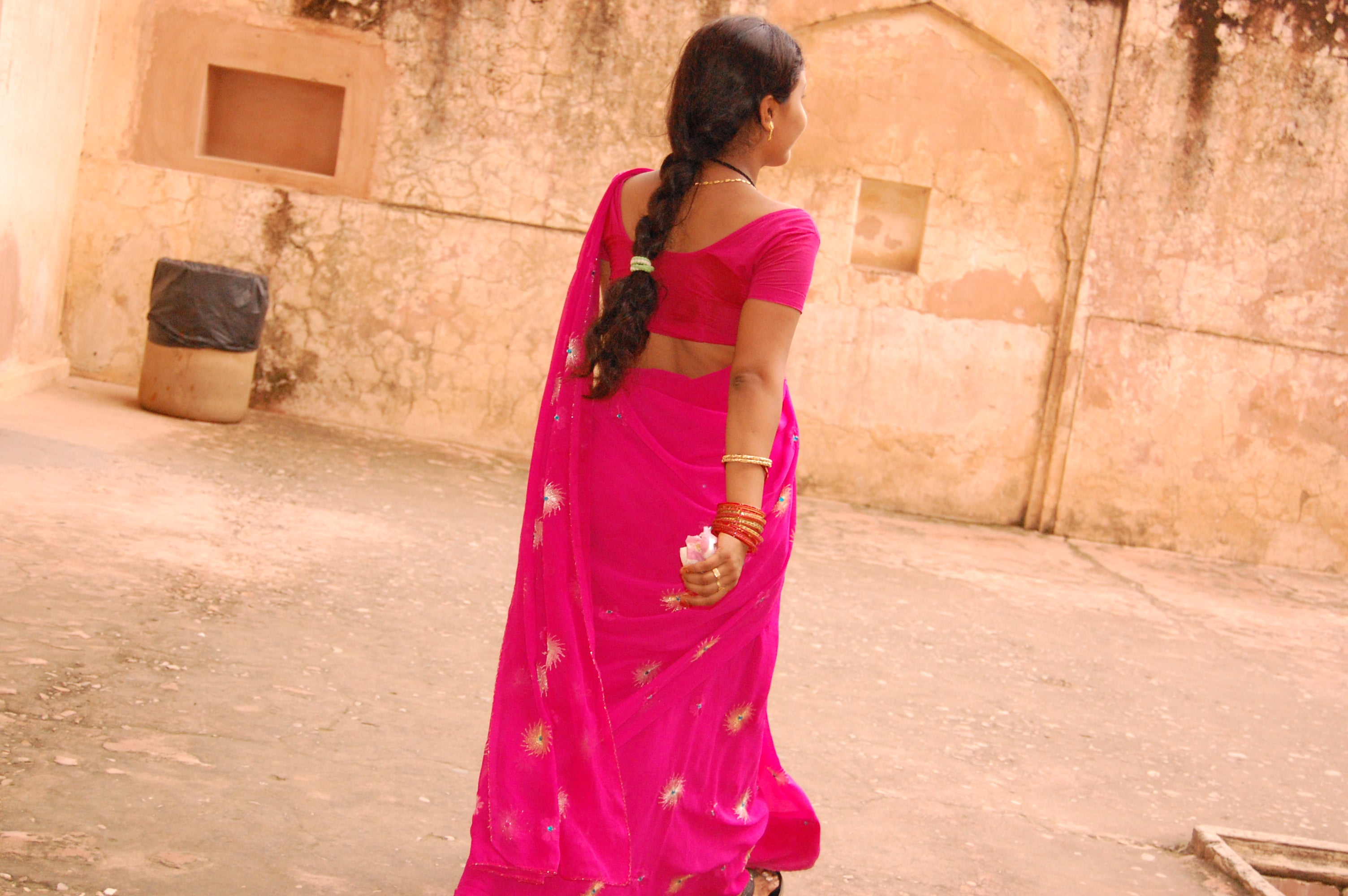 Color rosa en Rajasthan