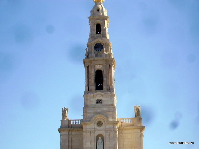 Clock Tower in Basilica of Our Lady of the Rosary of Fatima
