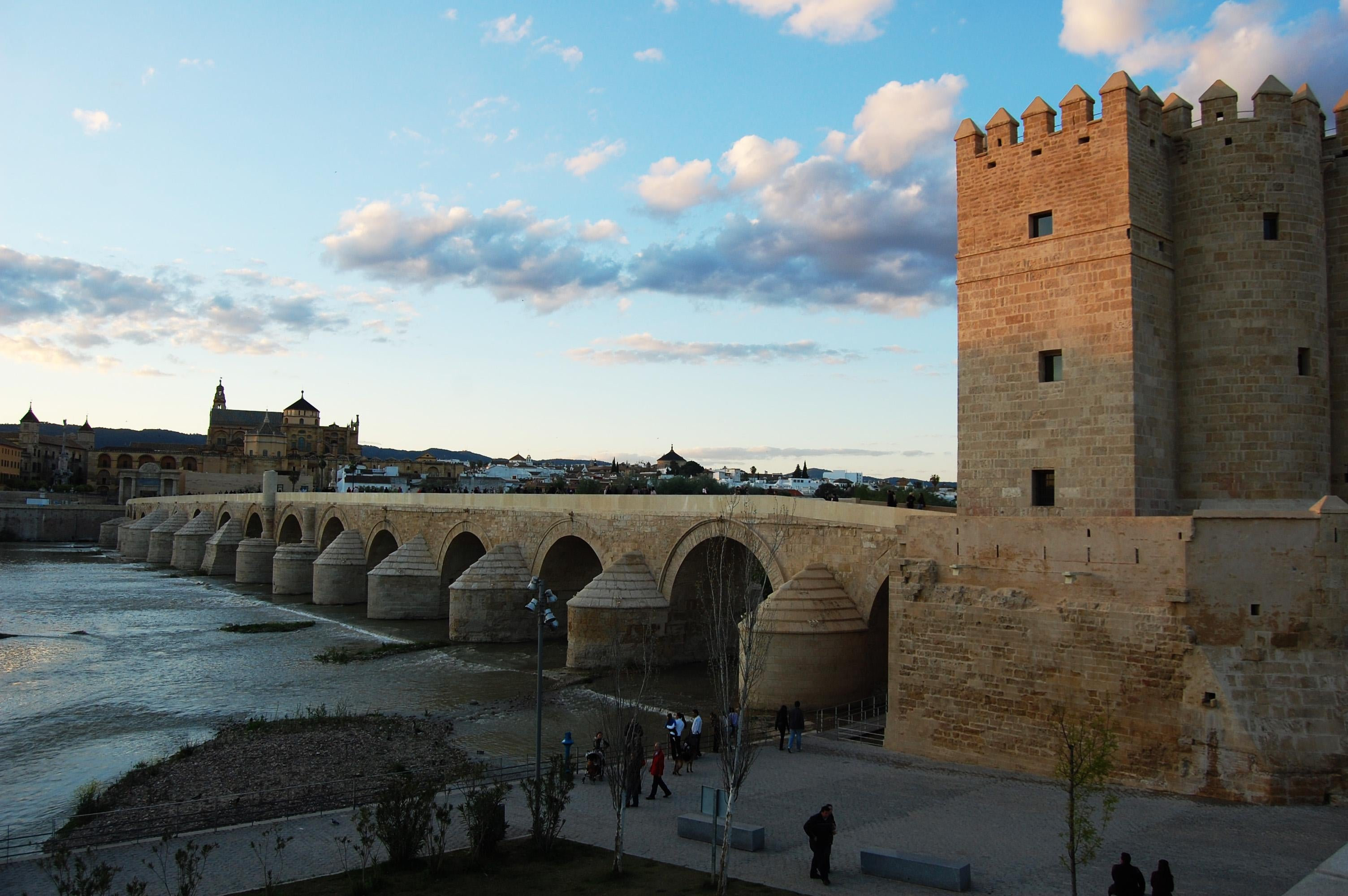 Tower in Roman Bridge of Córdoba