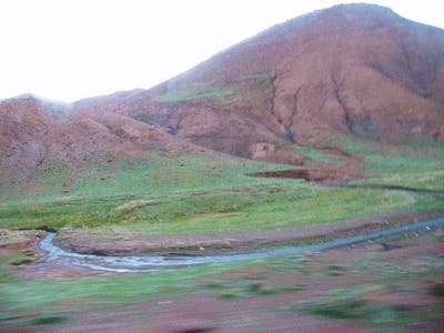Road from Marrakech to Ouarzazate