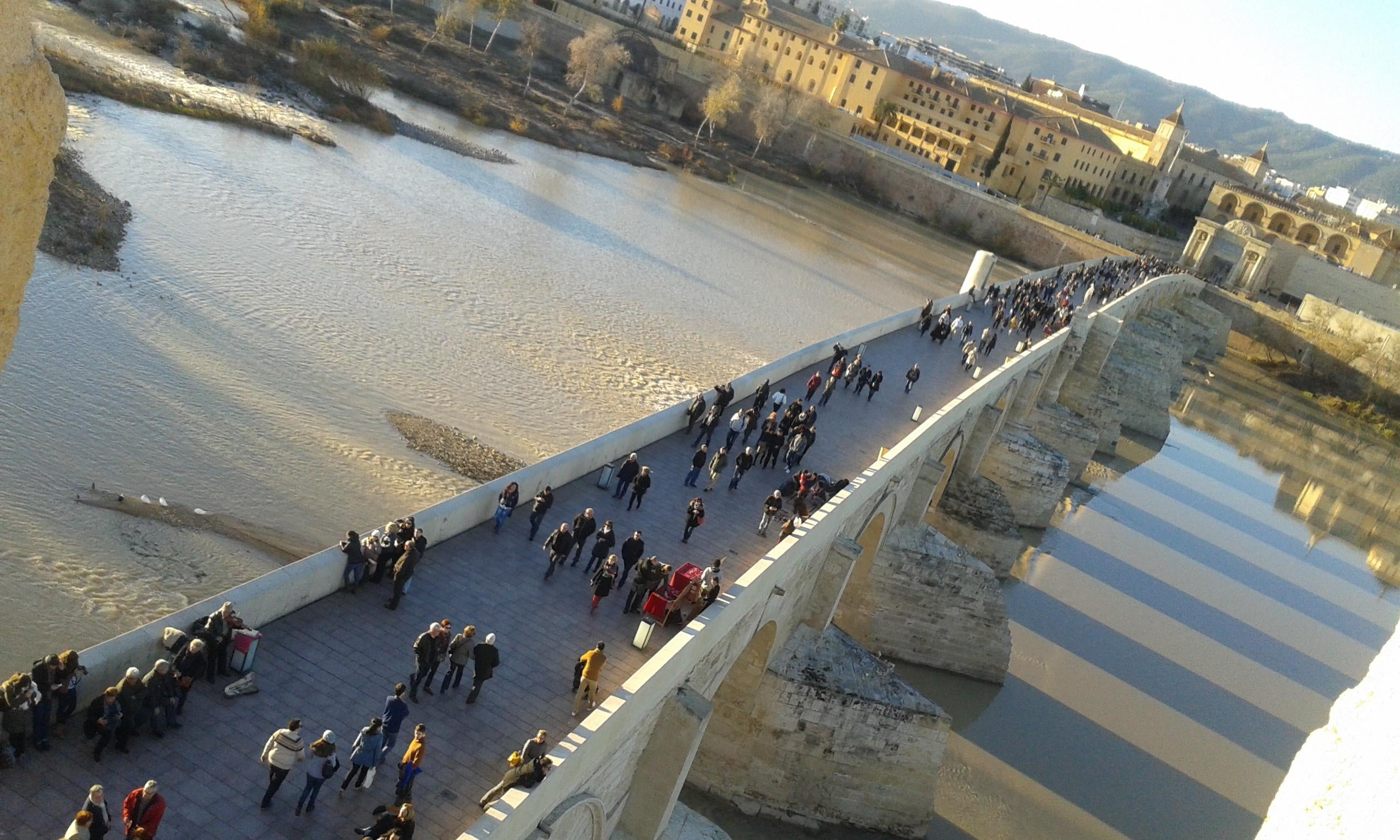 Aerial Photography in Roman Bridge of Córdoba