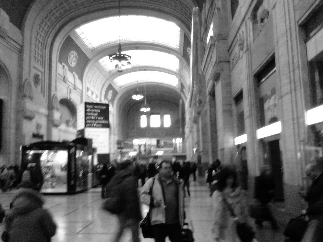 Blanco y negro en Estación Central