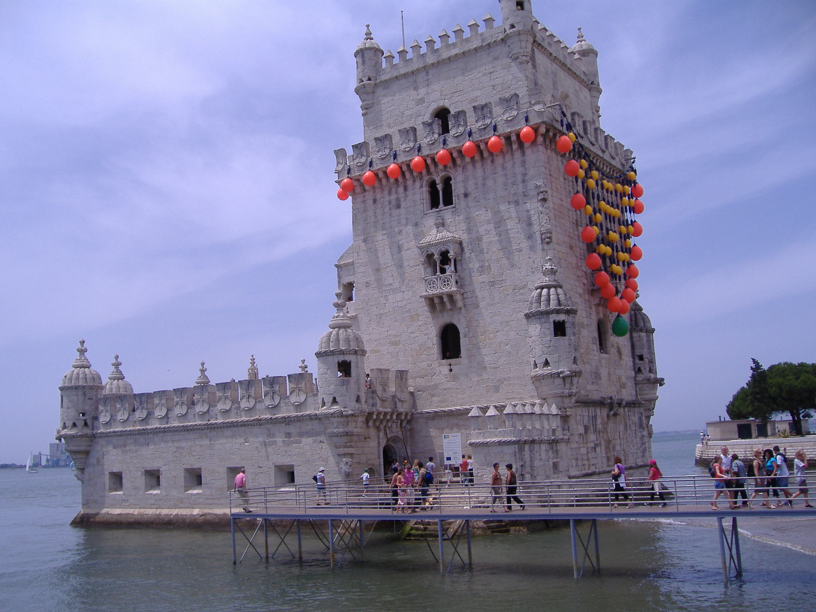 Waterway in Belém Tower
