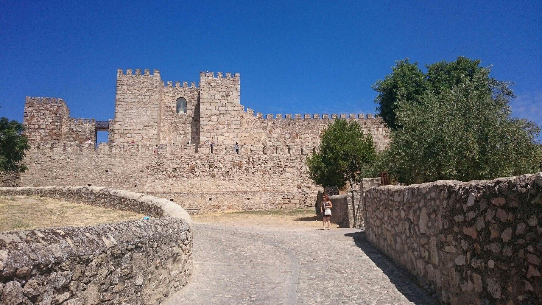 Pared en Castillo de Trujillo