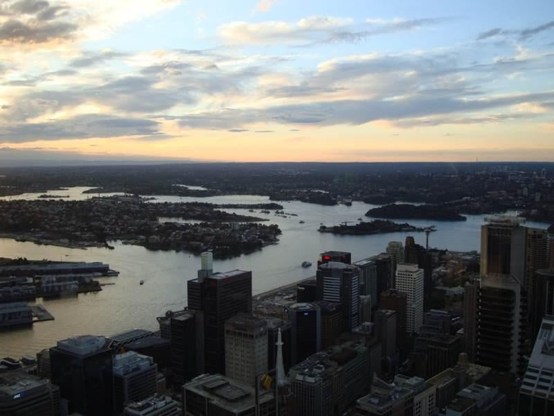 Amanecer en Sydney Tower