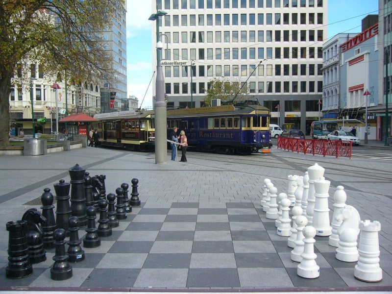 Plaza en Christchurch