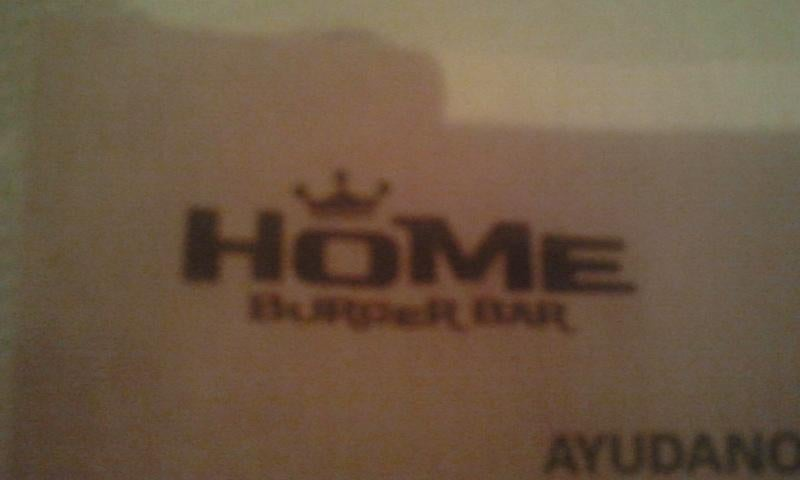 Emblema en Home Burger Bar