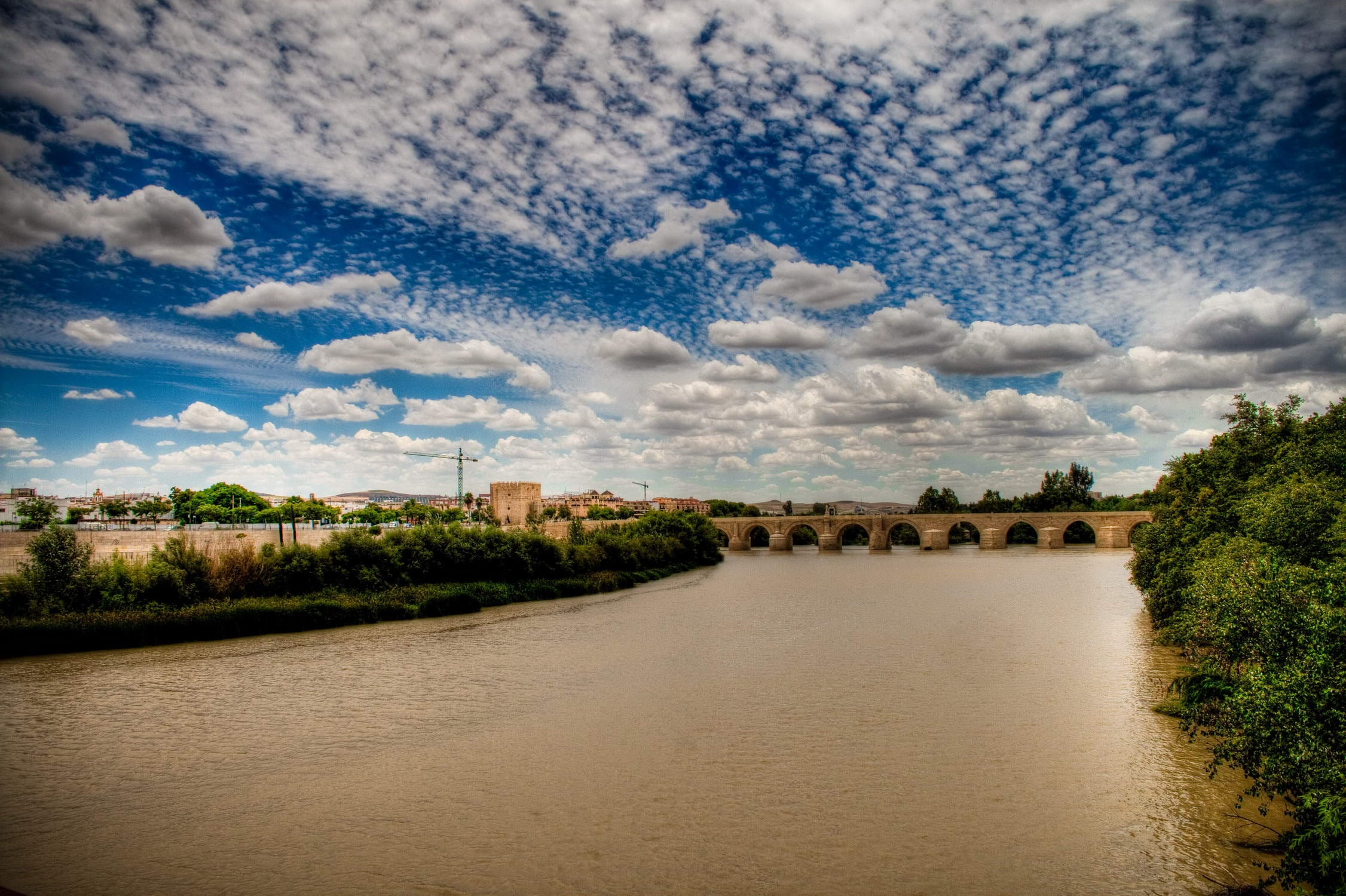 Sky in Roman Bridge of Córdoba