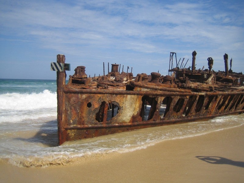 S.S. Maheno, shipwrecked Boat on Fraser Island
