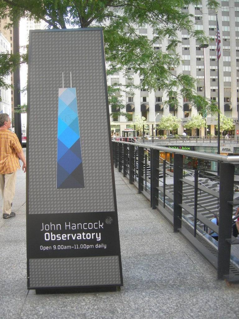 Señal en John Hancock Center