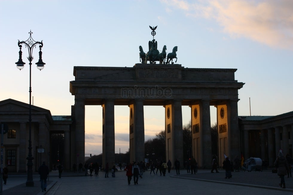 Dusk in Brandenburg Gate
