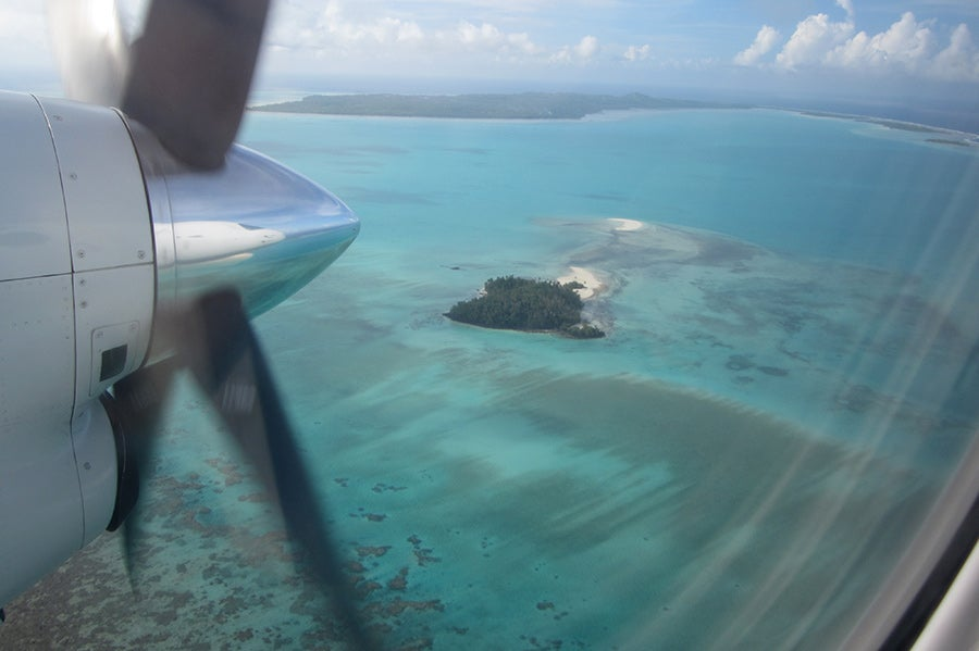 Flight over Aitutaki