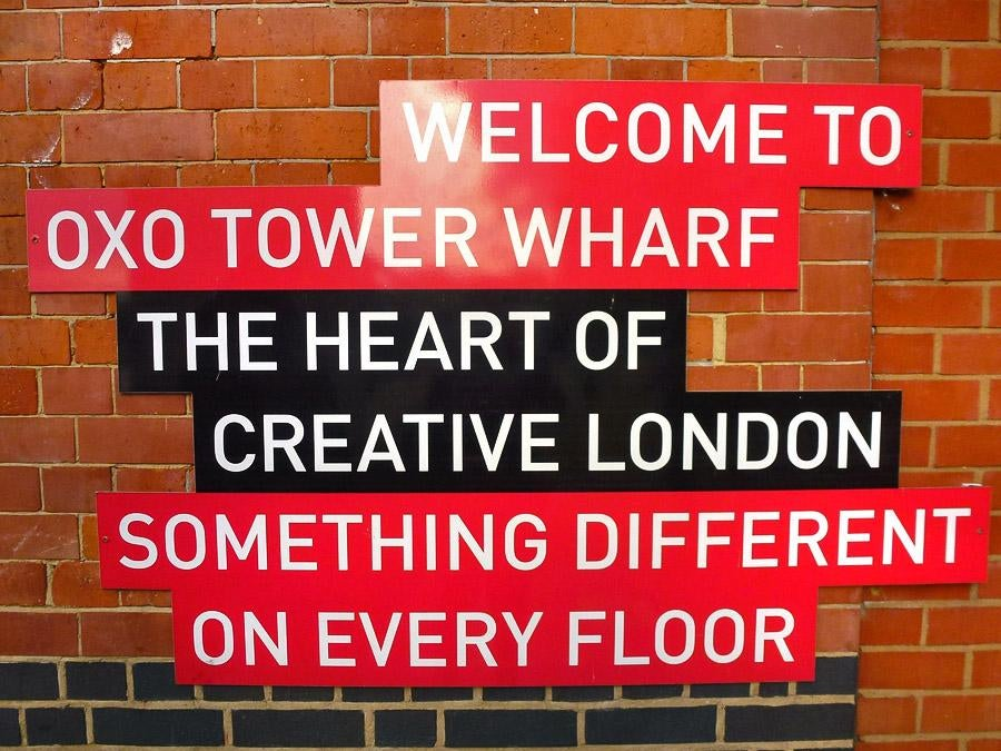 Señal en OXO Tower