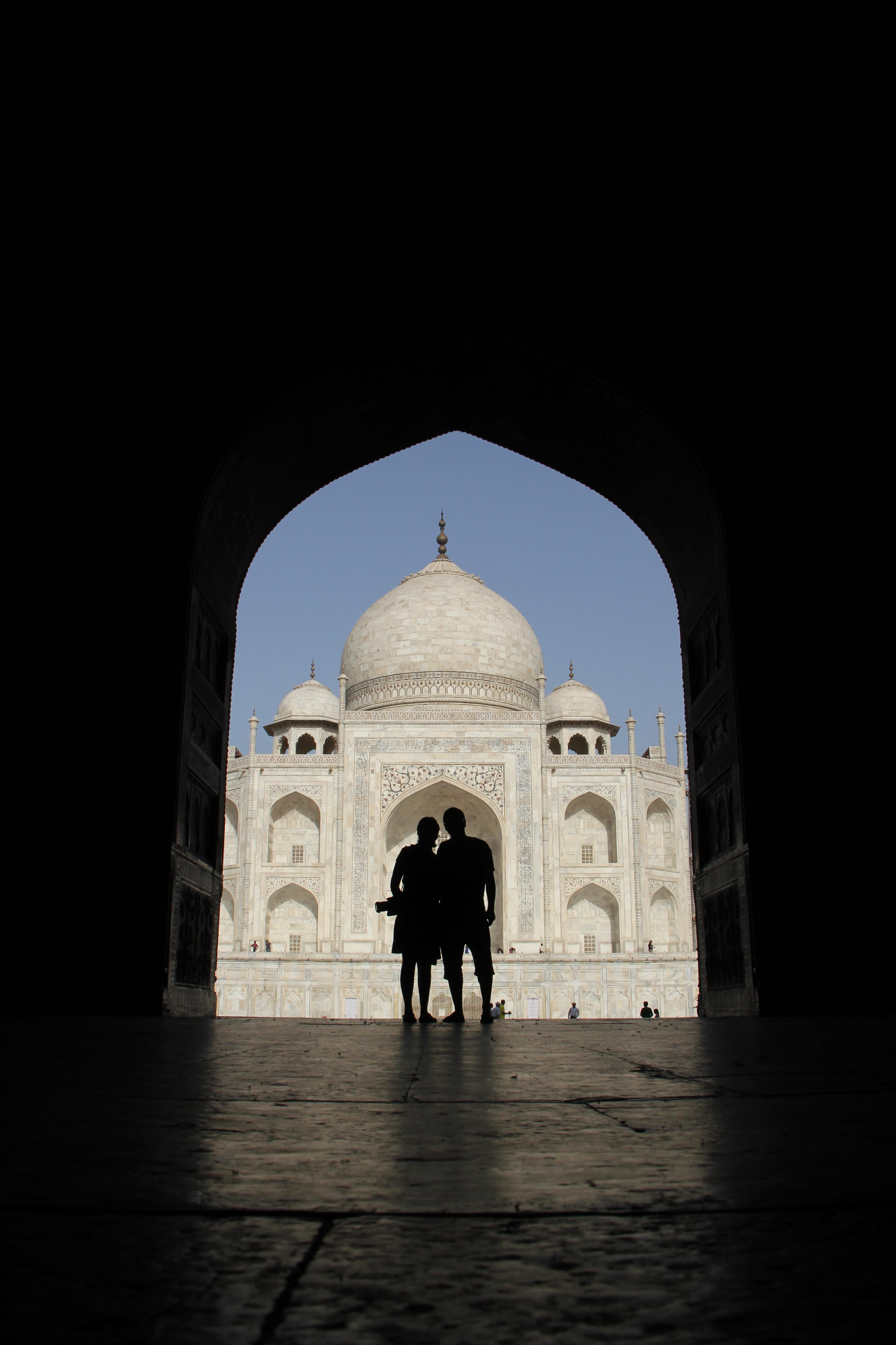 Blanco y negro en Taj Mahal
