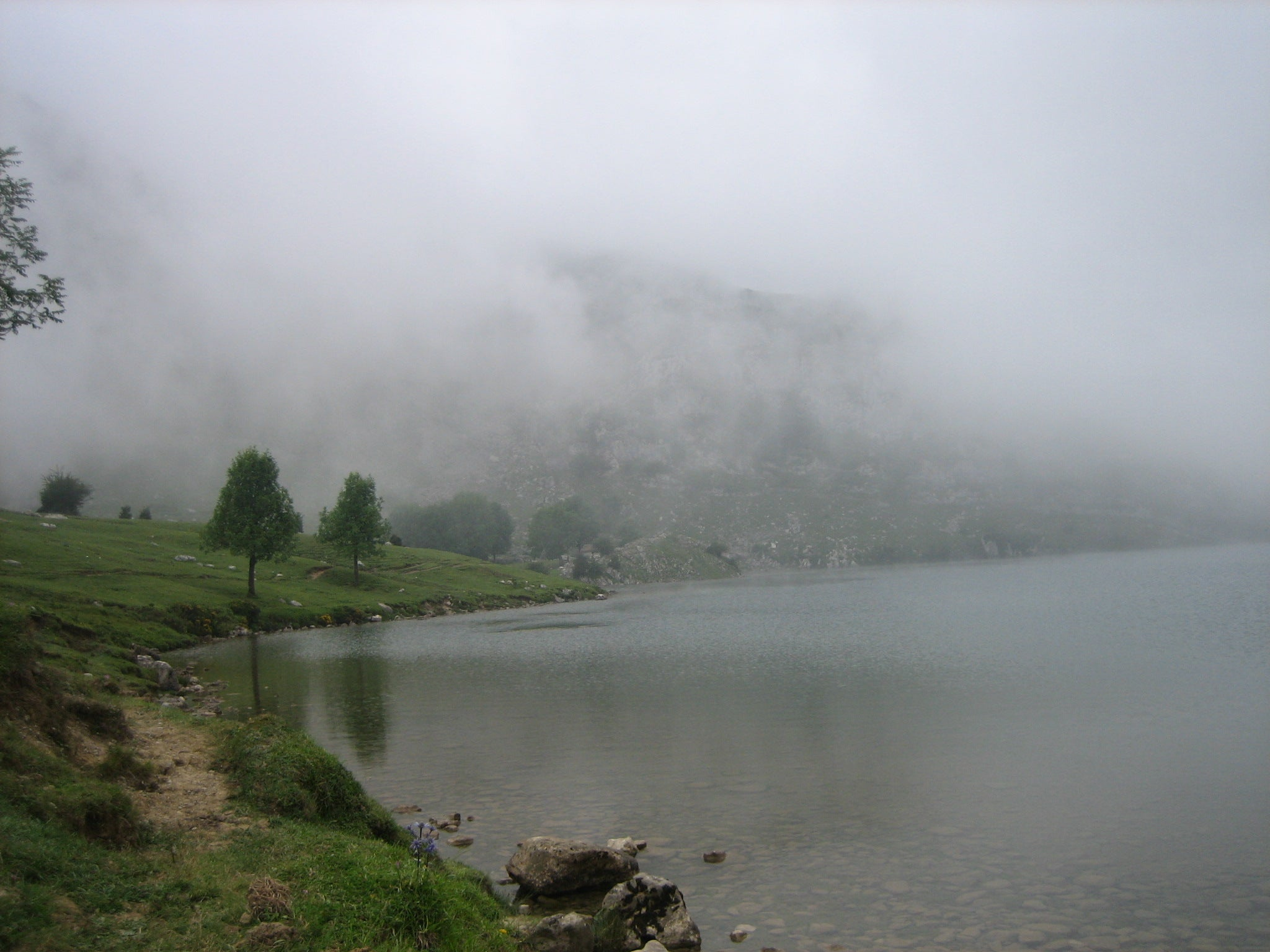 Fog in The Lakes of Covadonga - Enol and Ercina lakes