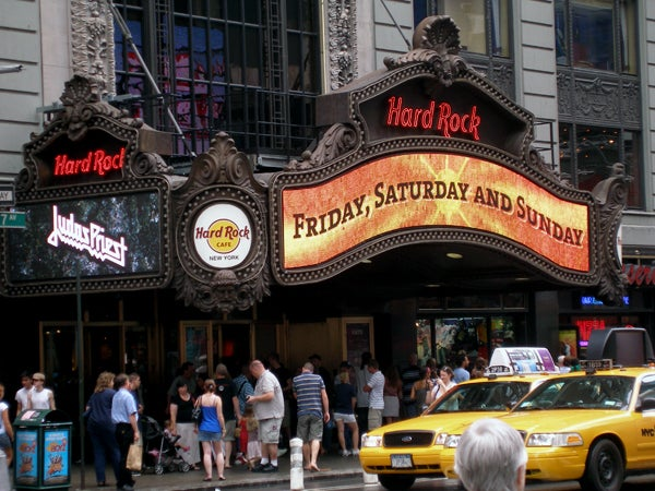Amarillo en Hard Rock Café (Nueva York)