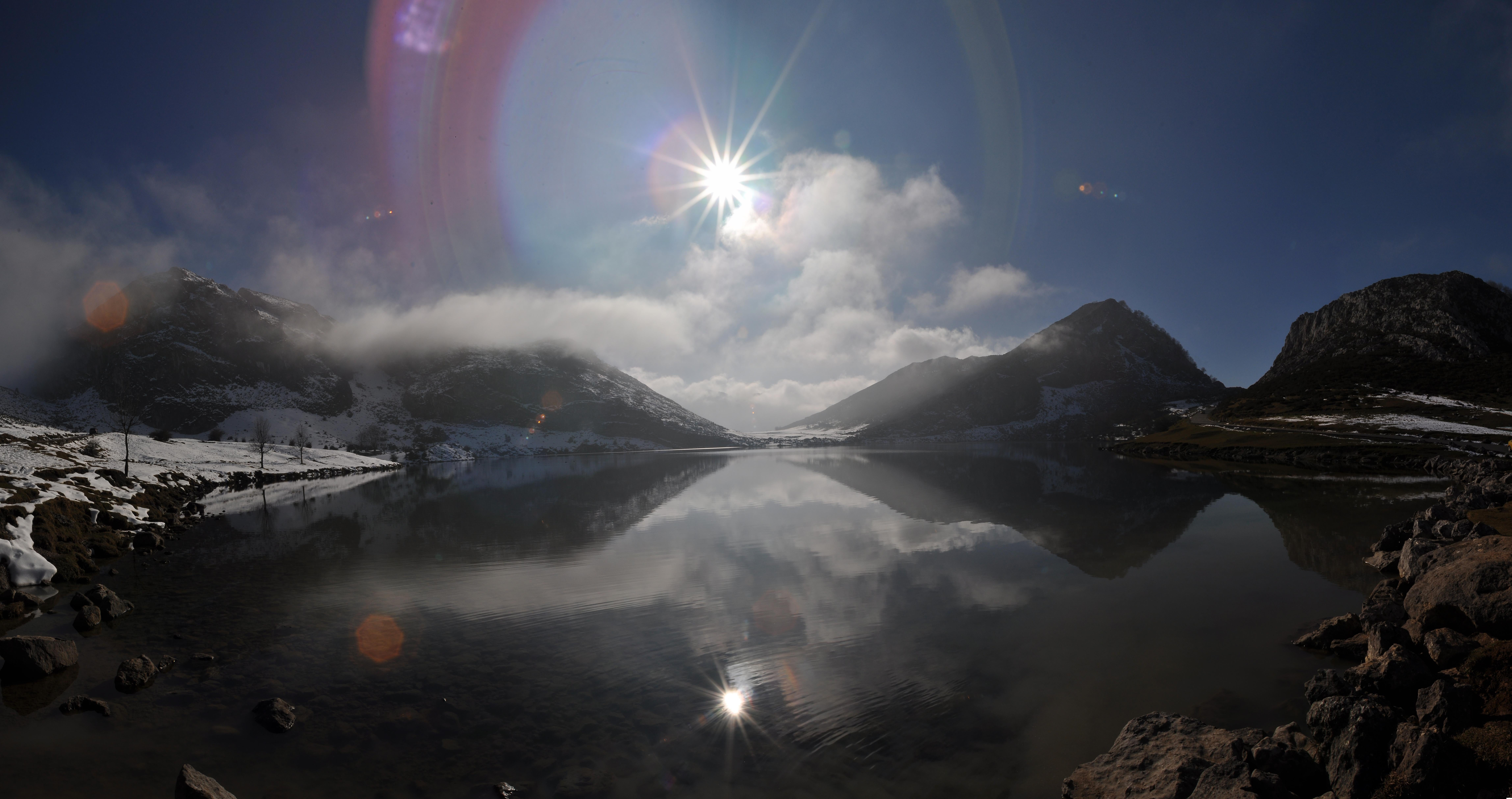 Reflection in The Lakes of Covadonga - Enol and Ercina lakes