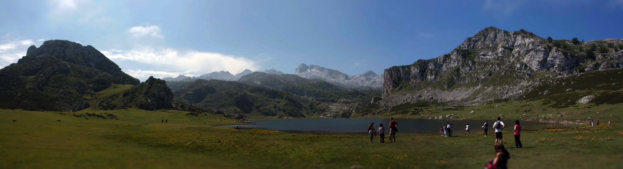Steppe in The Lakes of Covadonga - Enol and Ercina lakes