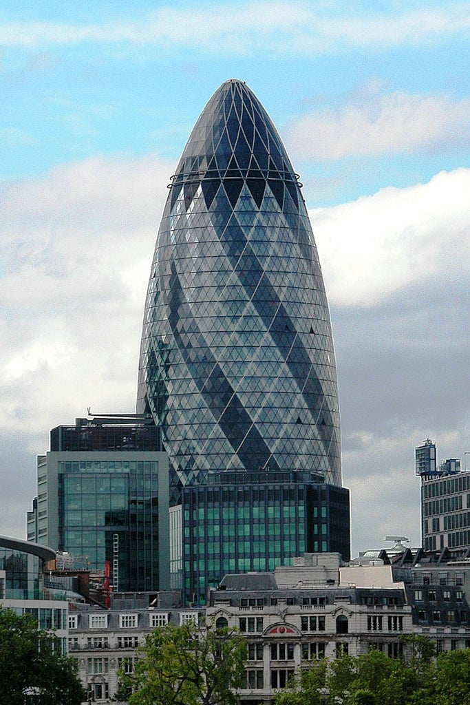 Centro de la ciudad en Swiss Re Tower - Torre Gherkin