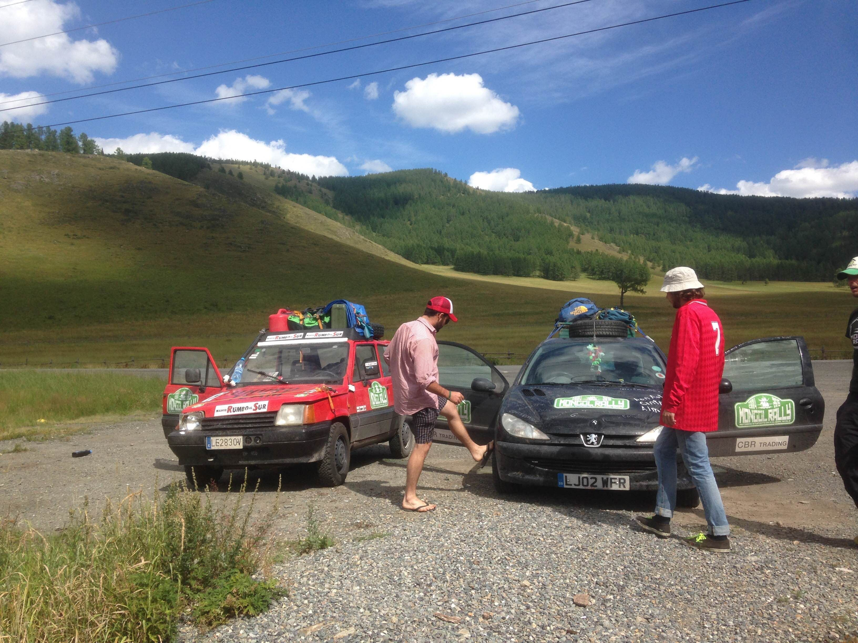 Carrera de coches en Mongol Rally