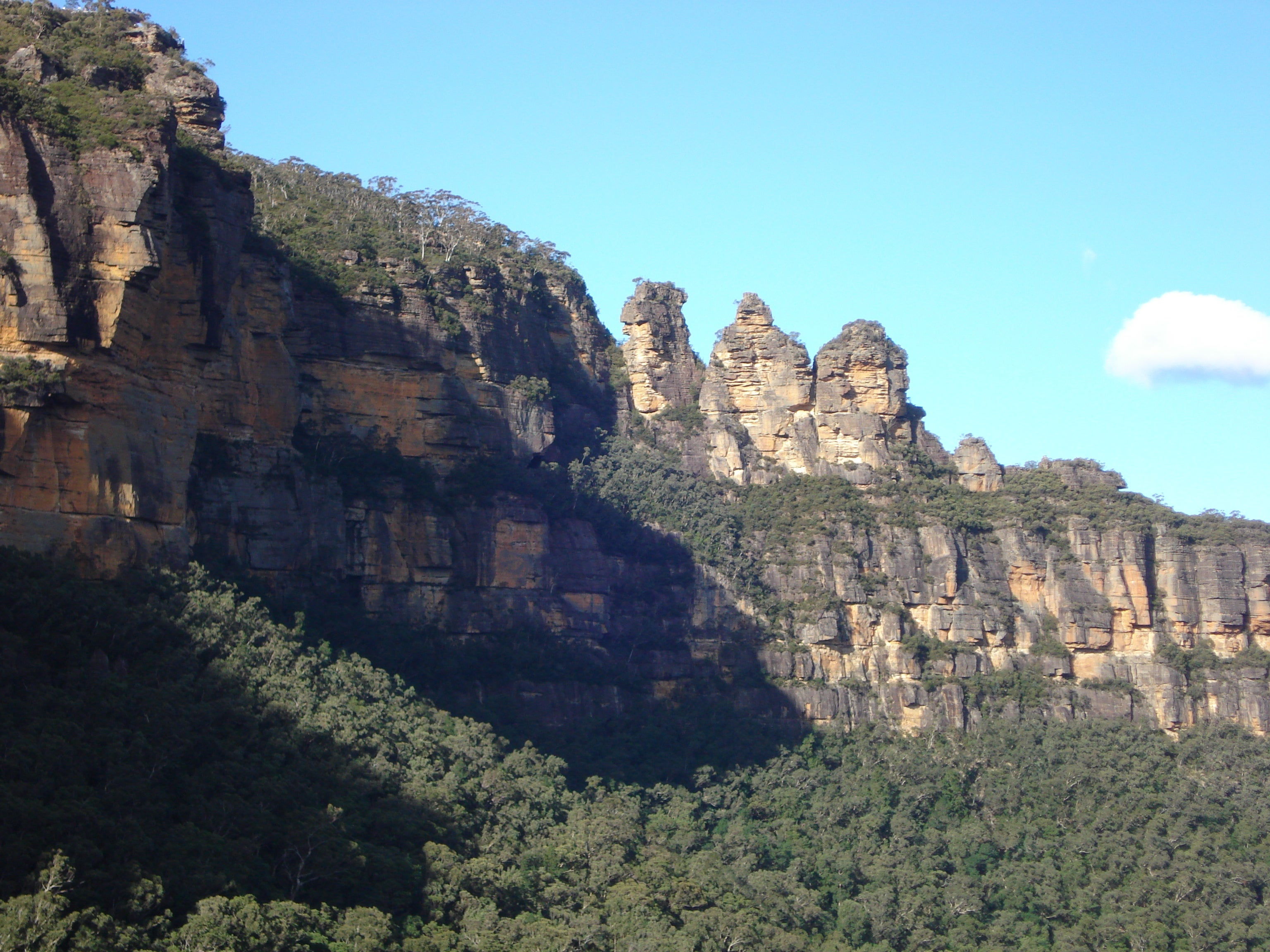 Acantilado en Parque nacional Blue Mountains