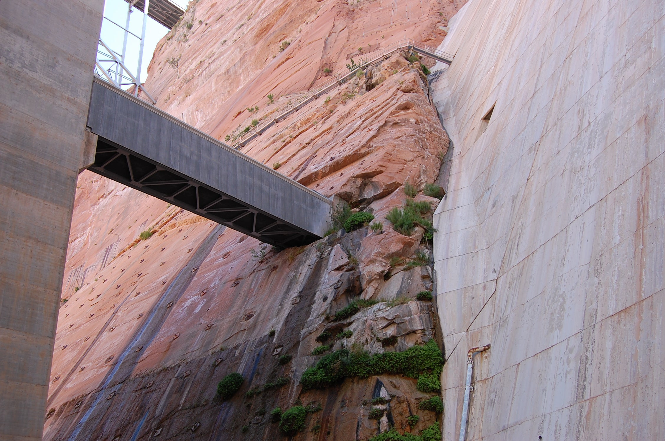 Pared en Glen Canyon Bridge