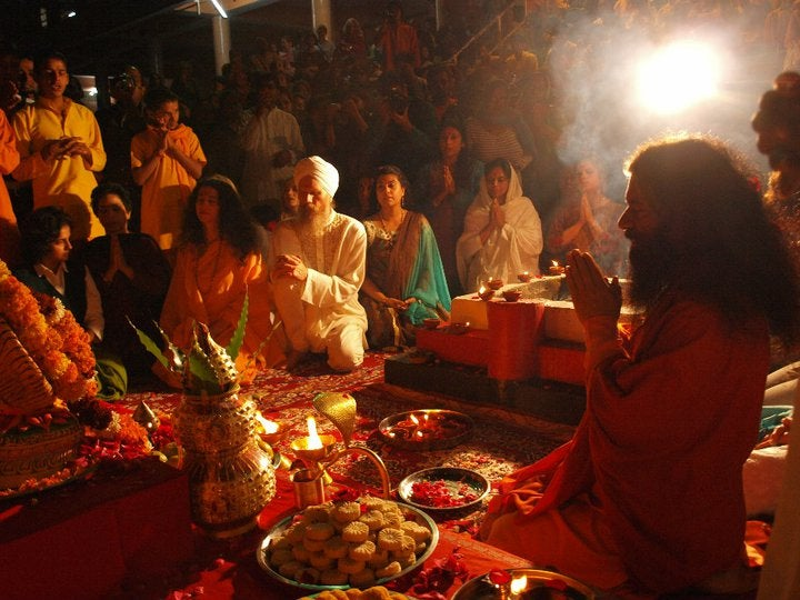 Ganga Aarti Ceremony In Parmarth Niketan Ashram