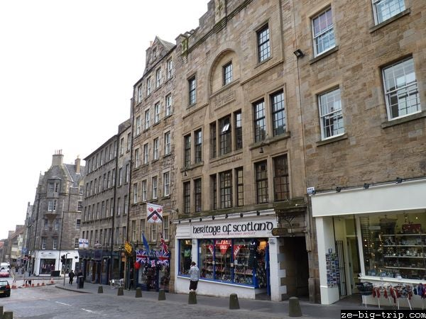 Fachada en Royal Mile
