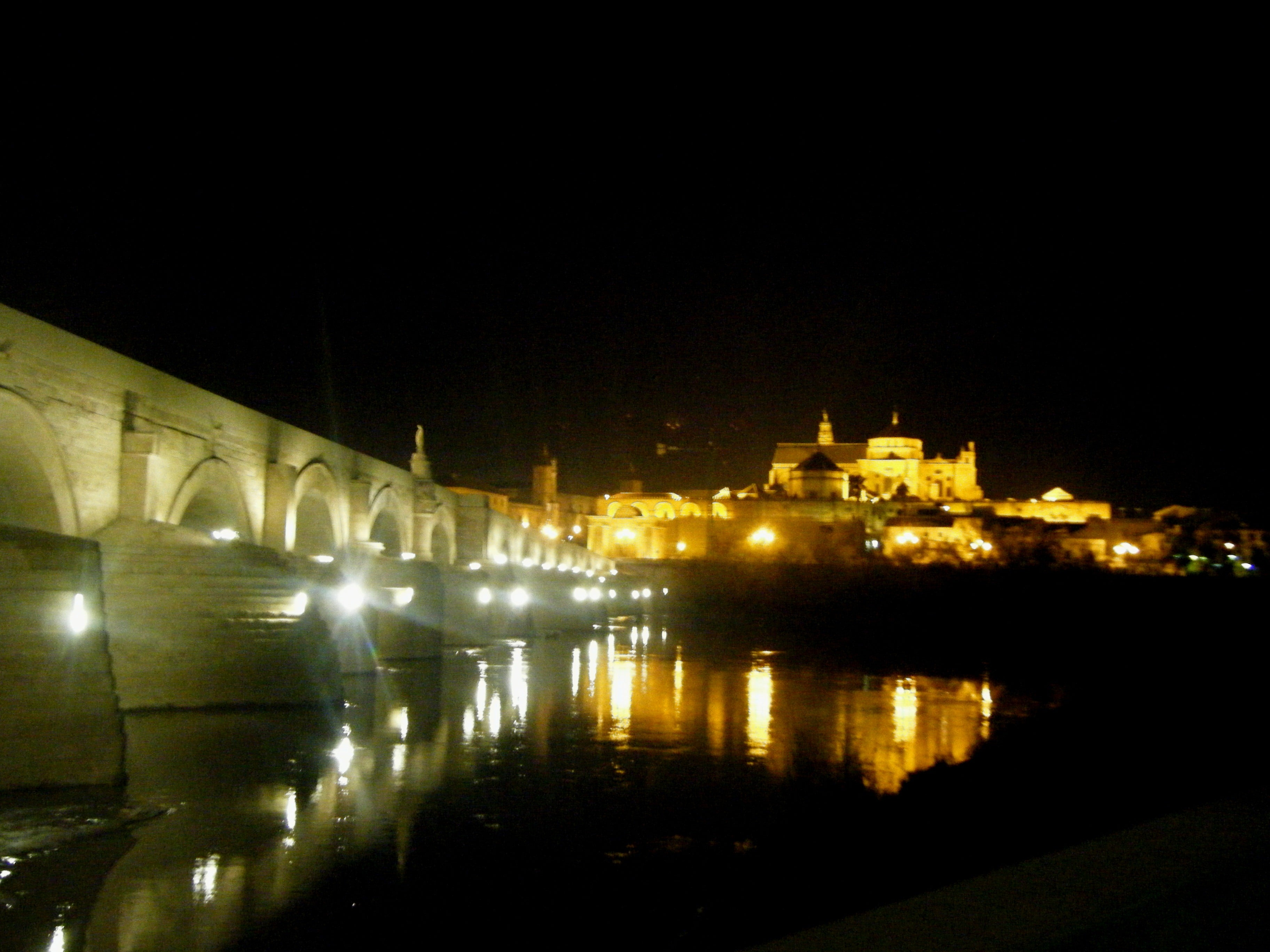 Sea in Roman Bridge of Córdoba