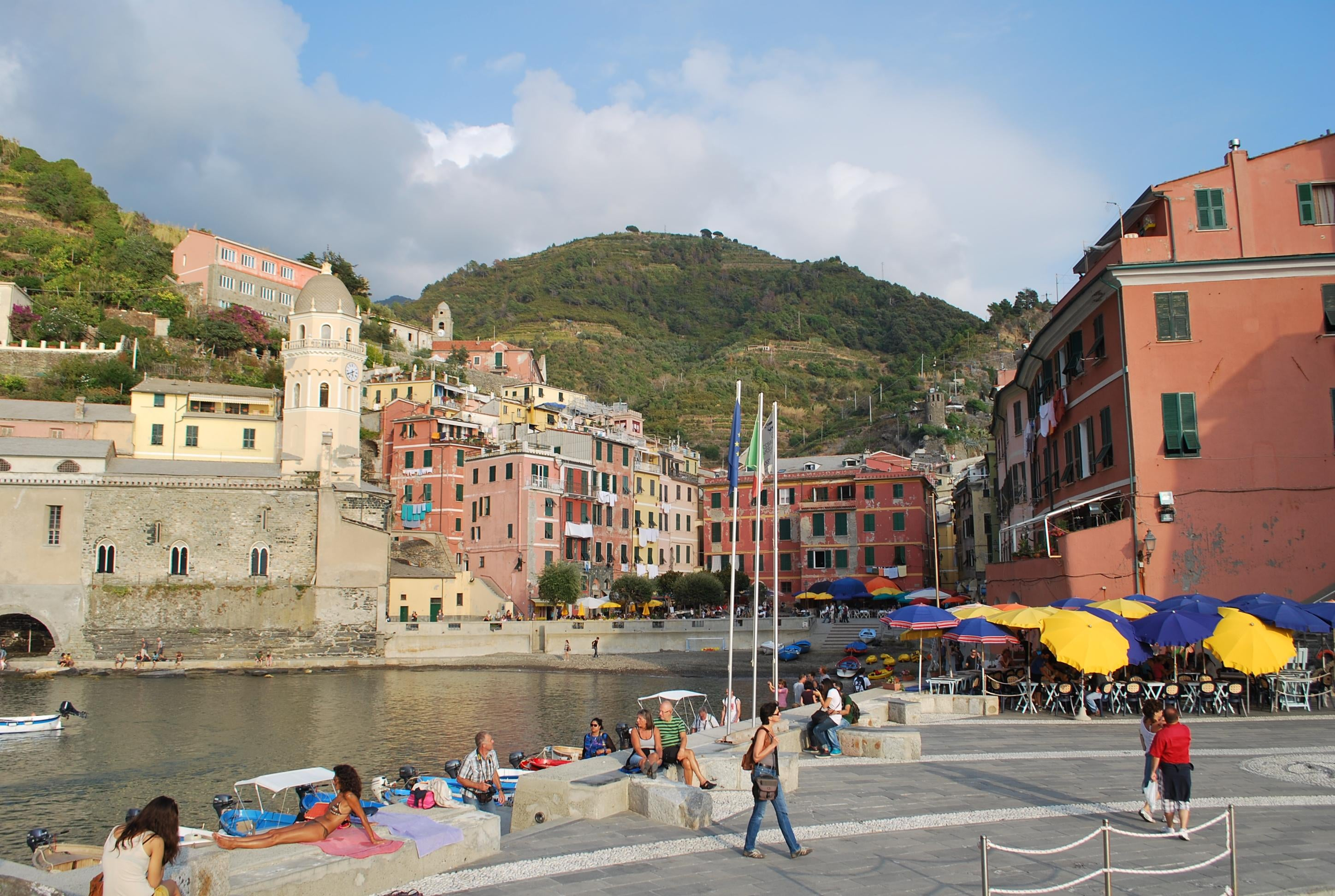 Plaza en Vernazza