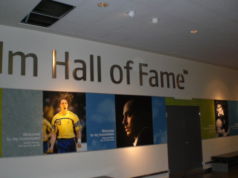 Señal en Arlanda Hall of Fame