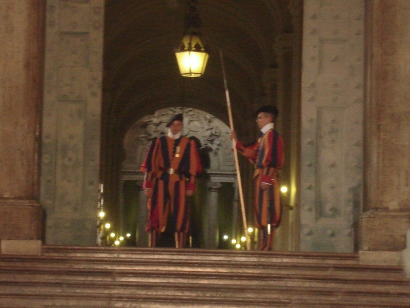 The Swiss Guard at the Vatican