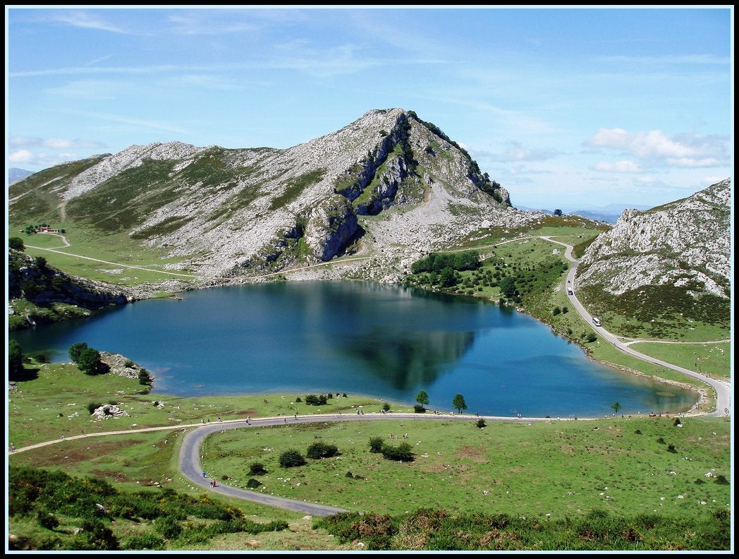 Reservoir in The Lakes of Covadonga - Enol and Ercina lakes