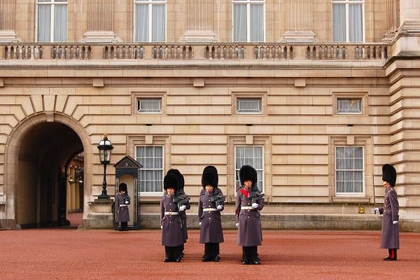 Edificio en Cambio de guardia en el Buckingham Palace