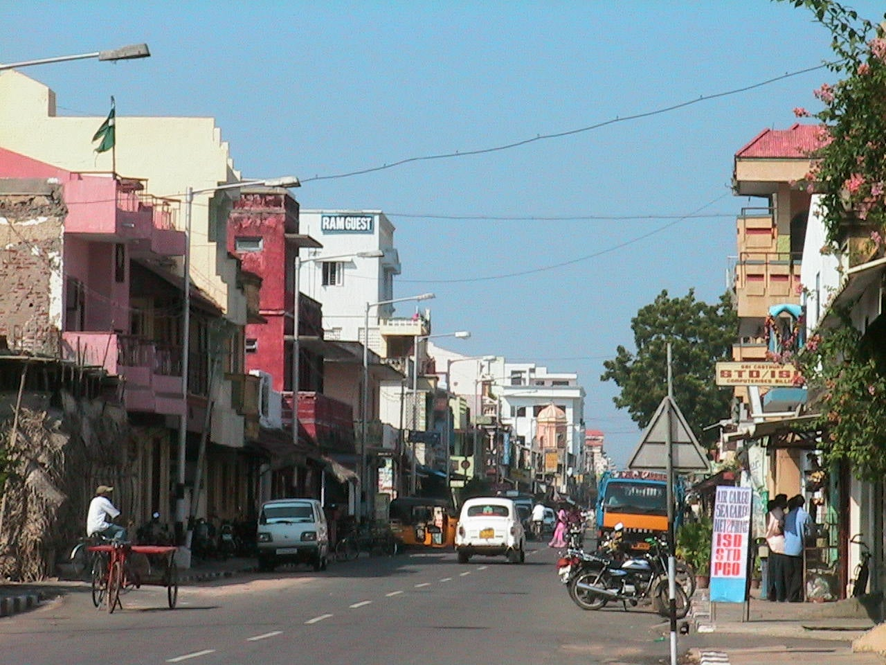 Calle en Pondicherry