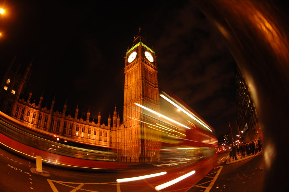 Fisheye Lens in Big Ben