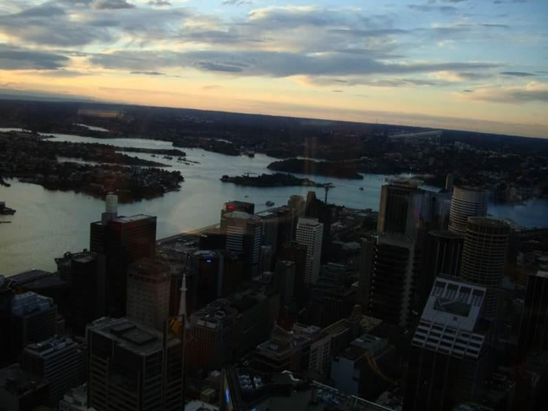 Anochecer en Sydney Tower