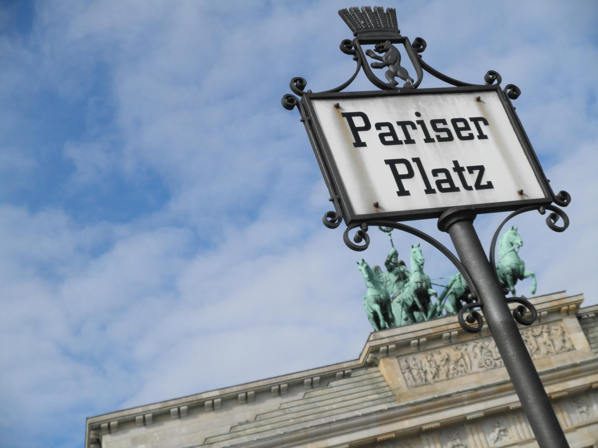 Street Sign in Brandenburg Gate